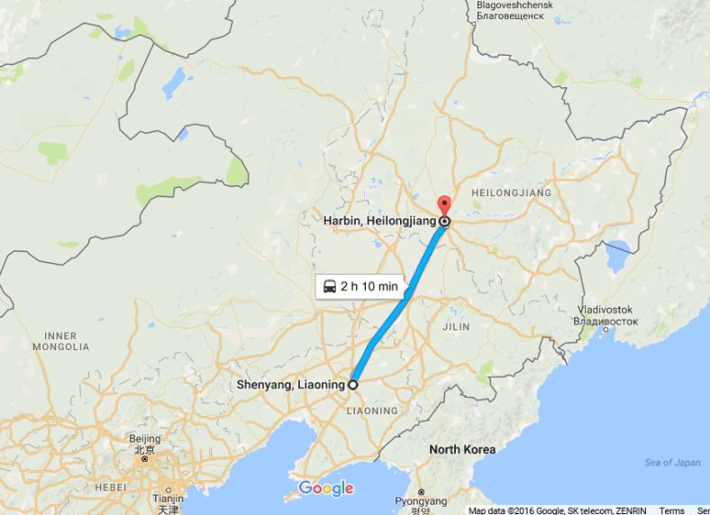 shenyang-harbin-by-train
